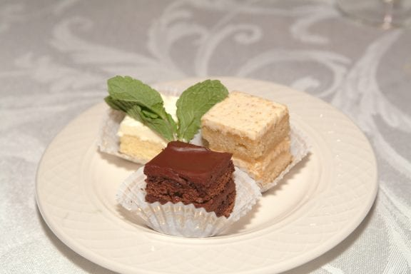 Petits Fors dessert - Asheville Caterers Chef Michael's