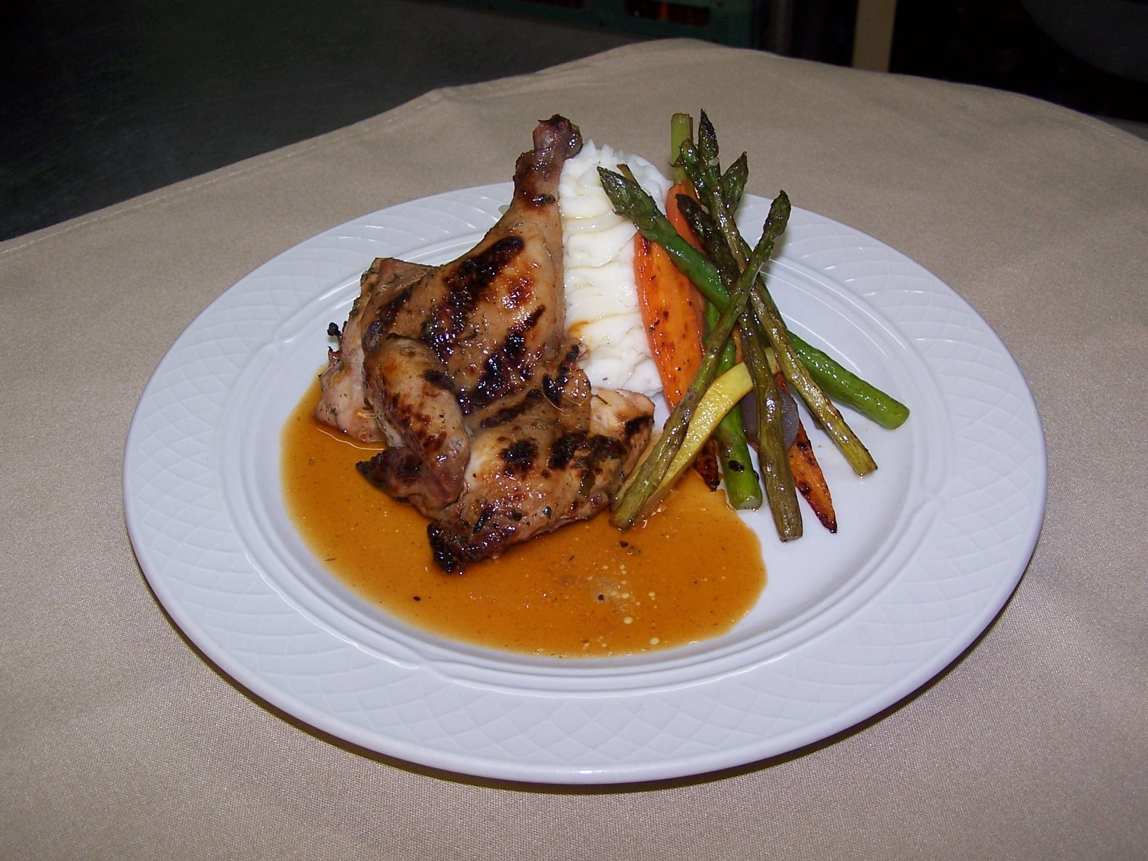 Cornish Game Hen - Asheville Chef Michael's Catering