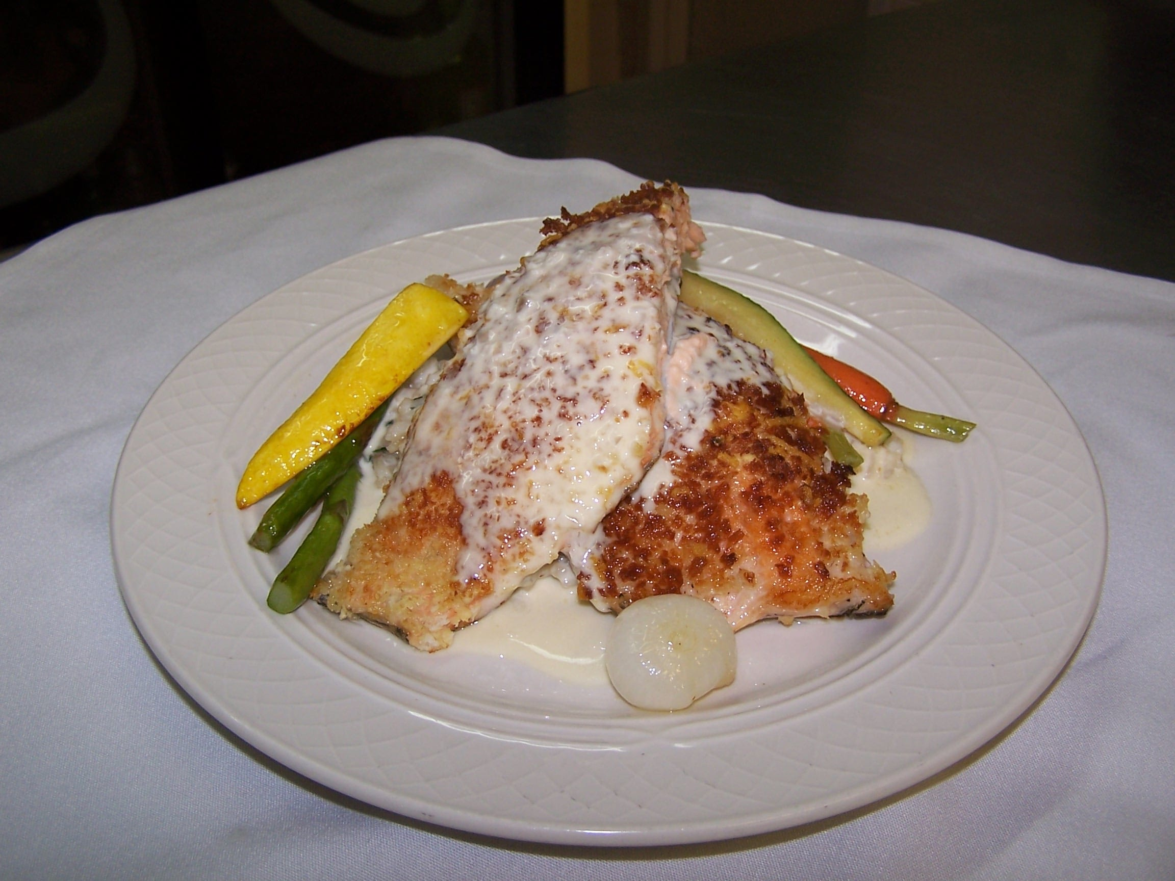 Lemon Parmesan Crusted Trout - Asheville Catering