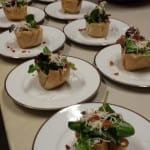 Chef Michael's Mixed Green Salad in Phyllo at Burntshirt Vineyards Wine Tasting