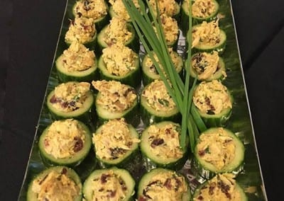 Finger Foods - Biriyani Chicken in Cucumber Cups